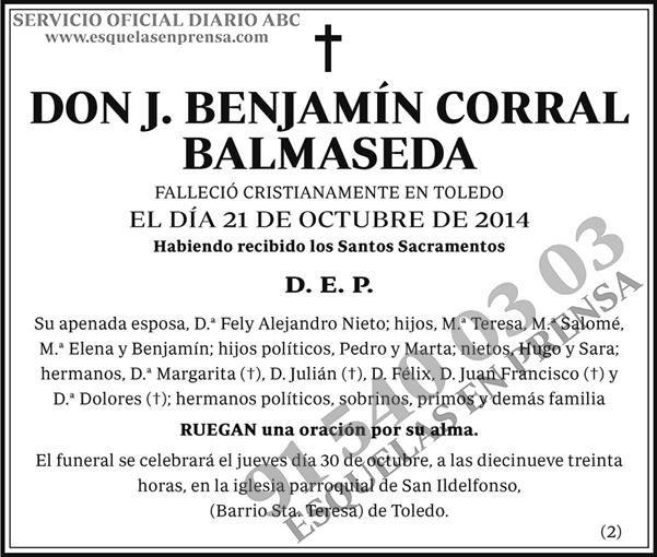 J. Benjamín Corral Balmaseda